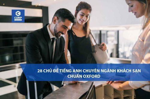 Trọn bộ sách 28 chủ đề tiếng anh chuyên ngành khách sạn chuẩn Oxford