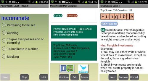powervocab word game - Phần mềm học từ vựng tiếng Anh