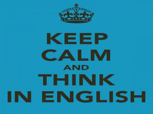 tập suy nghĩ bằng tiếng Anh